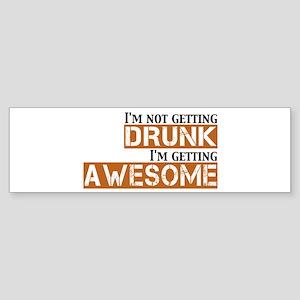Drunk Awesome Sticker (Bumper)