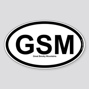GSM - Great Smokey Mountains Sticker (Oval)