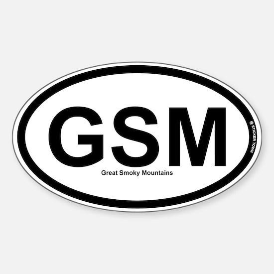 GSM - Great Smokey Mountains Sticker (Oval)
