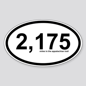 2175 - Appalachian Trail Miles Sticker (Oval)