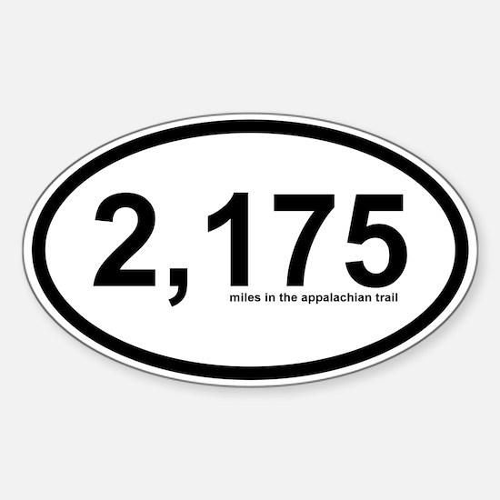 2175 - Appalachian Trail Miles Sticker (Oval)