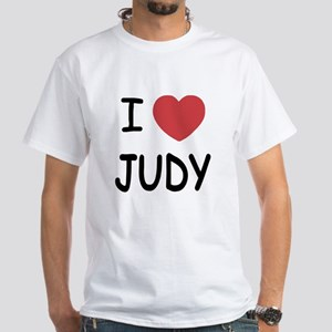 I heart Judy White T-Shirt