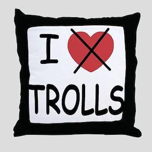 I hate trolls Throw Pillow