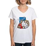 Bucks County Volleyball Women's V-Neck T-Shirt