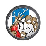 Bucks County Volleyball Wall Clock