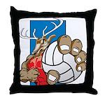 Bucks County Volleyball Throw Pillow