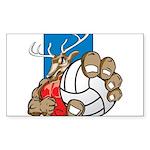 Bucks County Volleyball Sticker (Rectangle 50 pk)
