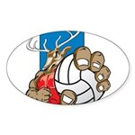 Bucks County Volleyball Sticker (Oval 50 pk)