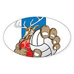 Bucks County Volleyball Sticker (Oval 10 pk)