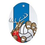 Bucks County Volleyball Ornament (Oval)