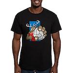 Bucks County Volleyball Men's Fitted T-Shirt (dark