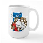 Bucks County Volleyball Large Mug