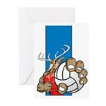 Bucks County Volleyball Greeting Cards (Pk of 10)
