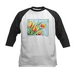 Tulips Watercolor Kids Baseball Jersey