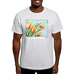 Tulips Watercolor Ash Grey T-Shirt