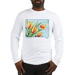 Tulips Watercolor Long Sleeve T-Shirt