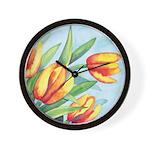 Tulips Watercolor Wall Clock