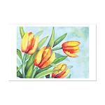 Tulips Watercolor Mini Poster Print