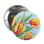 Tulips Watercolor Button