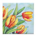 Tulips Watercolor Tile Coaster
