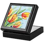 Tulips Watercolor Keepsake Box