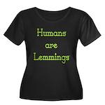 Lemmings Women's Plus Size Scoop Neck Dark T-Shirt