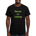 Lemmings Men's Fitted T-Shirt (dark)