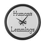 Lemmings Large Wall Clock