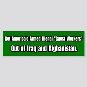 """Illegal """"Guest Workers"""" in Iraq Bumper S"""