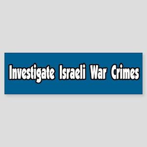 Investigate Israeli War Crimes
