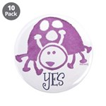 "Ladybug Stamp 3.5"" Button (10 pack)"
