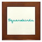 Squarebirds Framed Tile