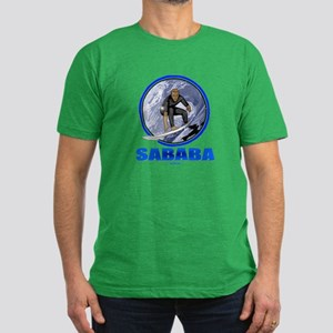 Sababa Hebrew Men's Fitted T-Shirt (dark)
