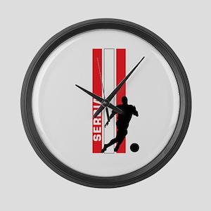 SERBIA FOOTBALL 3 Large Wall Clock