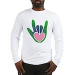 Green/Pink Heart ILY Hand Long Sleeve T-Shirt