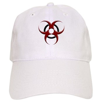 3D Biohazard Symbol Cap