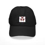3D Biohazard Symbol Black Cap