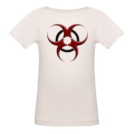 3D Biohazard Symbol Organic Baby T-Shirt