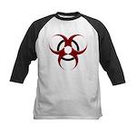 3D Biohazard Symbol Kids Baseball Jersey
