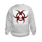 3D Biohazard Symbol Kids Sweatshirt