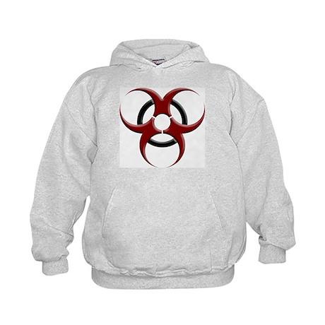 3D Biohazard Symbol Kids Hoodie