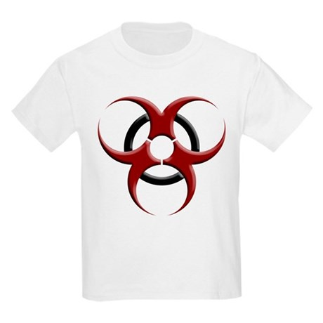 3D Biohazard Symbol Kids Light T-Shirt