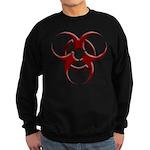 3D Biohazard Symbol Sweatshirt (dark)