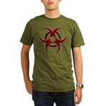 3D Biohazard Symbol Organic Men's T-Shirt (dark)