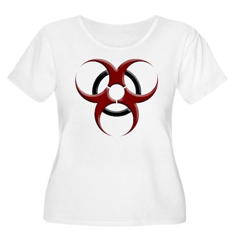 3D Biohazard Symbol Women's Plus Size Scoop Neck T