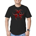 3D Biohazard Symbol Men's Fitted T-Shirt (dark)