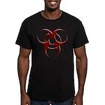 3D Biohazard Symbol Men's Fitted T-Shirt (dark)