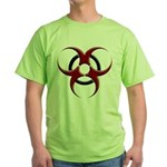 3D Biohazard Symbol Green T-Shirt