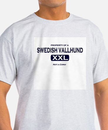 Property of Swedish Vallhund Grey T-Shirt