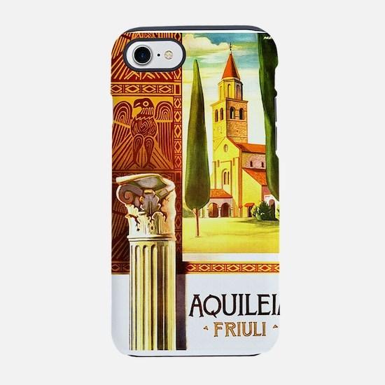 Aquileia Italy - Vintage Travel iPhone 7 Tough Cas
